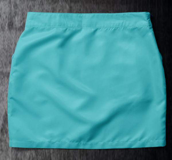 Basic skirt Aqua Back