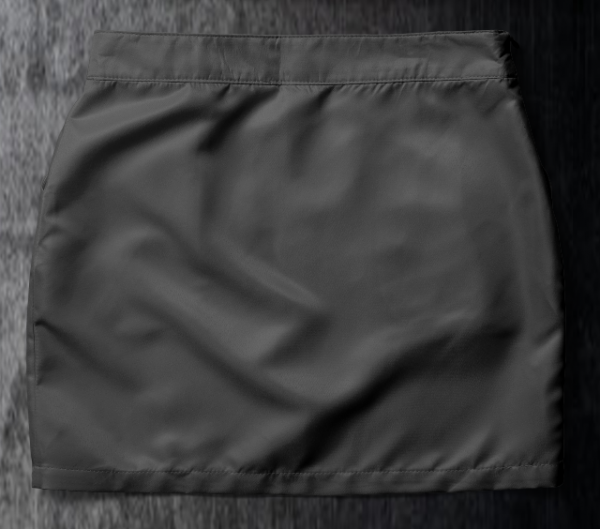 Basic skirt Grey Back