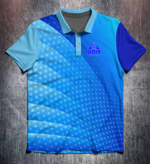 abstract dotted Blue front web