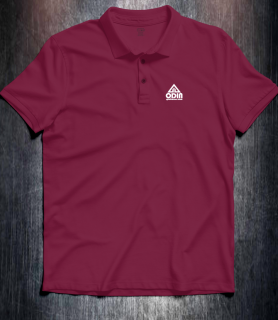 Basic polo Burgundy Front