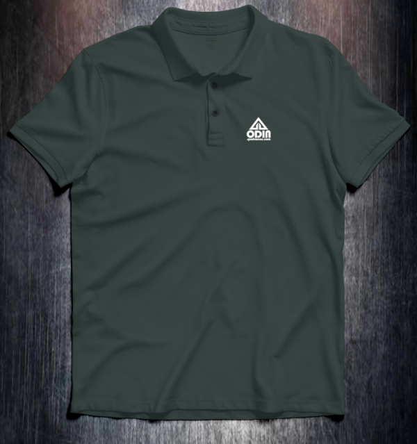 Basic polo Charcoal Front