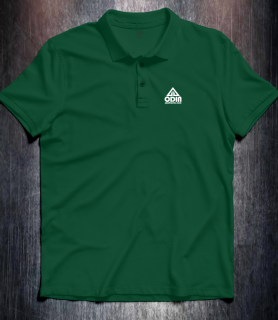 Basic polo Dark Green Front