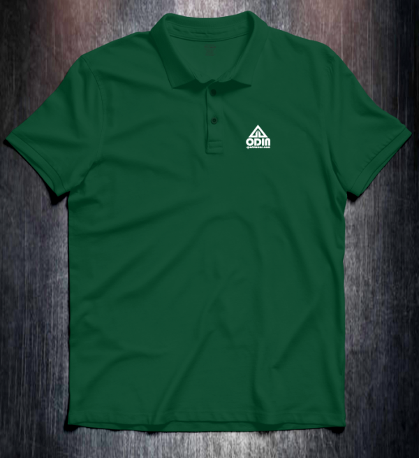 Basic polo Dark Green Front