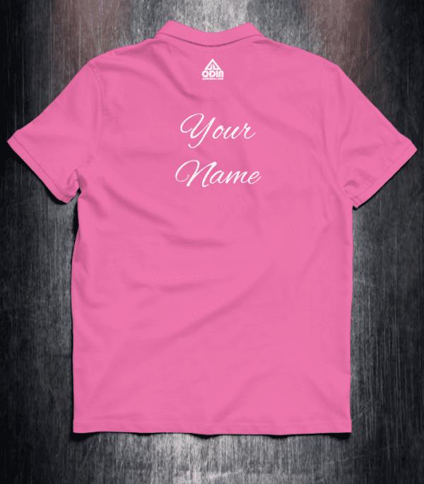 Basic polo Pink back
