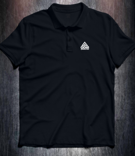 Basic polo Black Front