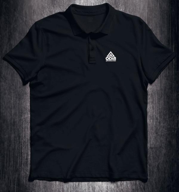 Basic polo Black Front