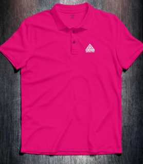 Basic polo Fuchsia Front