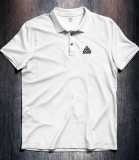 Basic polo White front