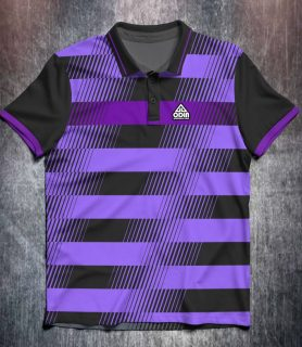 Black Purple Lines Stripes Front