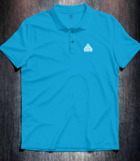 Basic polo Turquoise Front