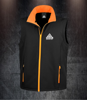 body warmers black-orange