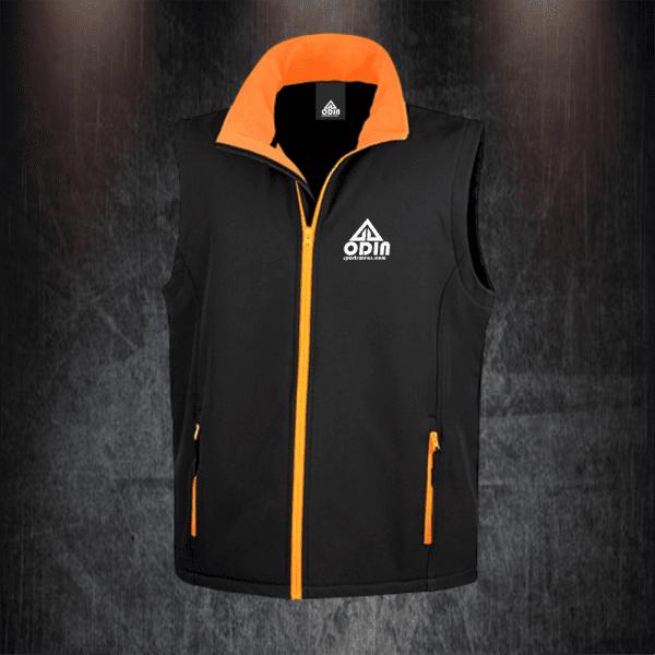 body warmers black-orange