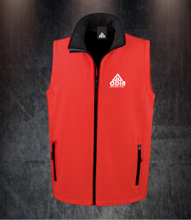 body warmers red-black