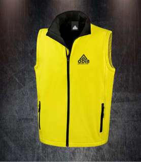 body warmers yellow-black