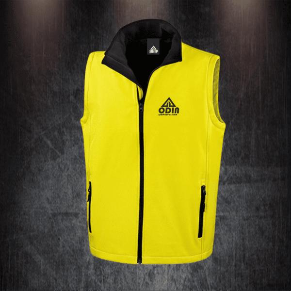 body warmers yellow-black